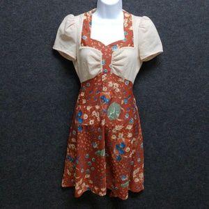 Vintage 70s juniors floral dress